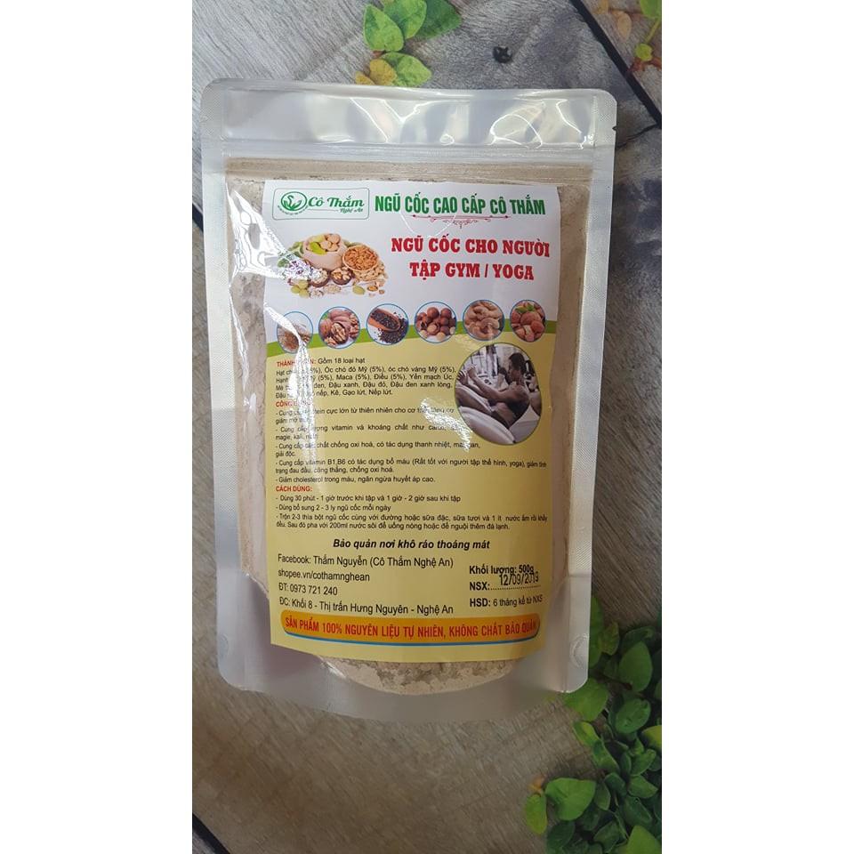 Ngũ cốc TẬP GYM, YOGA, THỂ THAO cao cấp Cô Thắm (thành phần 18 loại hạt dinh dưỡng, tăng cơ, giảm mỡ...)