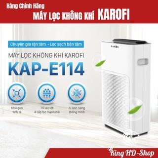 Máy lọc không khí Karofi KAP-E114, Công nghệ thông minh với 4 lớp lọc loại bỏ 98,63% bụi bẩn