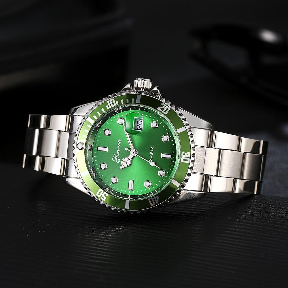Aikefan GONEWA Men Fashion Military Stainless Steel Date Sport Quartz Analog Wrist Watch