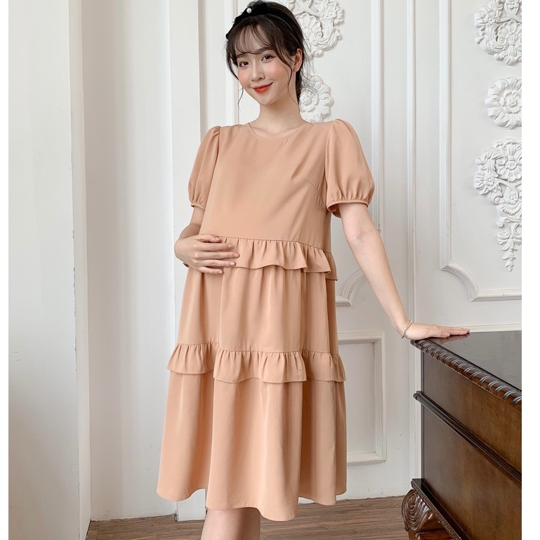 Mặc gì đẹp: Dễ chịu với MEDYLA - Váy bầu mùa hè xinh thiết kế 1 lớp tằm Hàn Châu cho bầu đi chơi du lịch dự tiệc - SP800