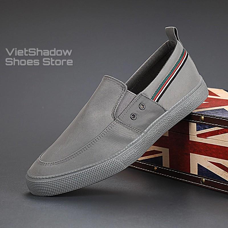 Slip on nam - Giày lười vải nam cao cấp thương hiệu Shanbu - Vải polyester (gió) chống thấm 5 màu tuyệt đẹp - Mã 20835