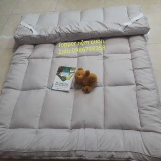 Topper nệm đa năng/ nệm trải sàn ngủ gấp gọn [màu trắng đục]