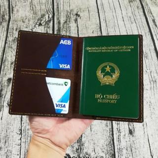 Ví, bóp đựng thẻ, hộ chiếu, Passport cover, ví đựng passport, bao da đựng hộ chiếu, vỏ bọc passport - Orchid PP426 thumbnail