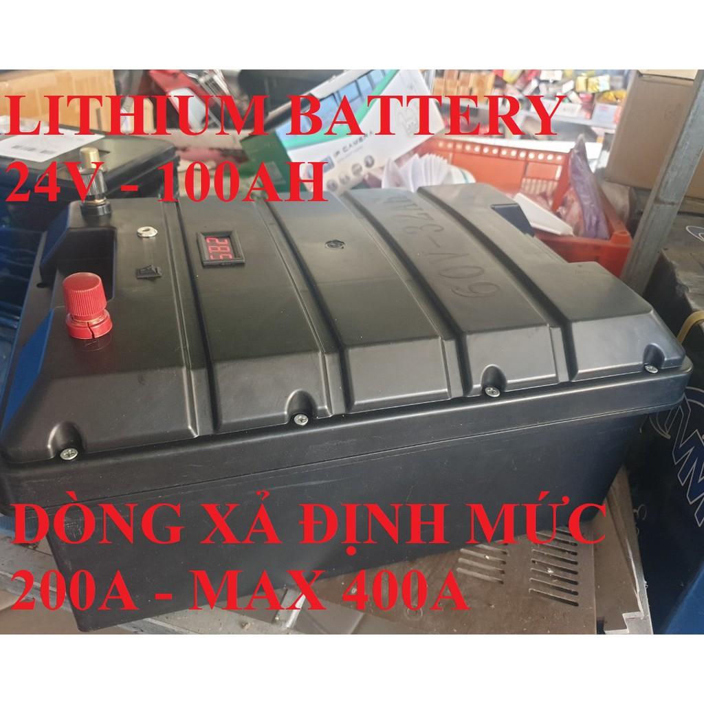 Ắc quy pin lithium 24v 100AH - lifepo4