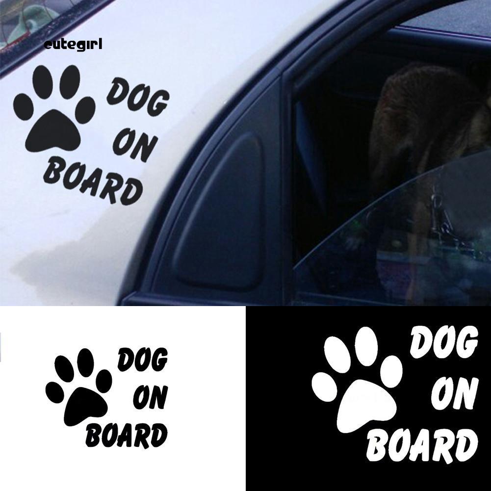 Miếng dán xe ô tô hình chân cún đáng yêu