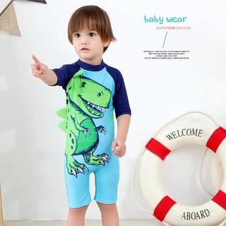 Bộ bơi liền bé trai hình khủng long - kèm mũ