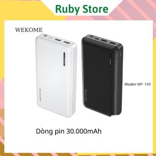 Sạc dự phòng wk wp-159 dung lượng 30000 mAh hay pin dự phòng wekome dòng pin chính hãng thumbnail