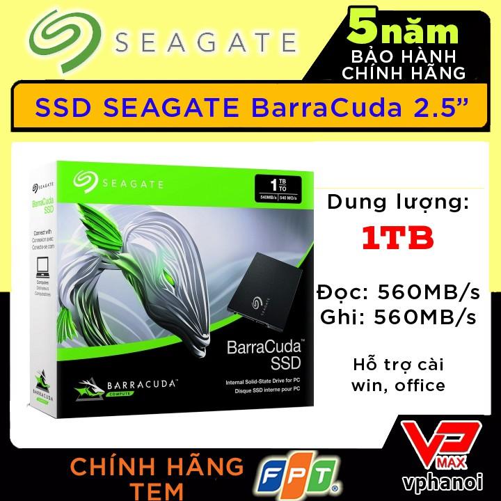 [Mã ELCLMAY giảm 7% đơn 500K] Ổ cứng SSD Seagate Barracuda 1TB bảo hành 5 năm FPT