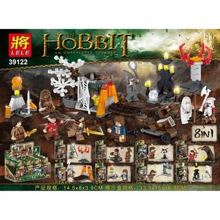 Đồ chơi lắp ráp lego hobbit chúa tể của những chiếc nhẫn minifigues lele 39122 trọn bộ 8 nhân vật xếp hình.
