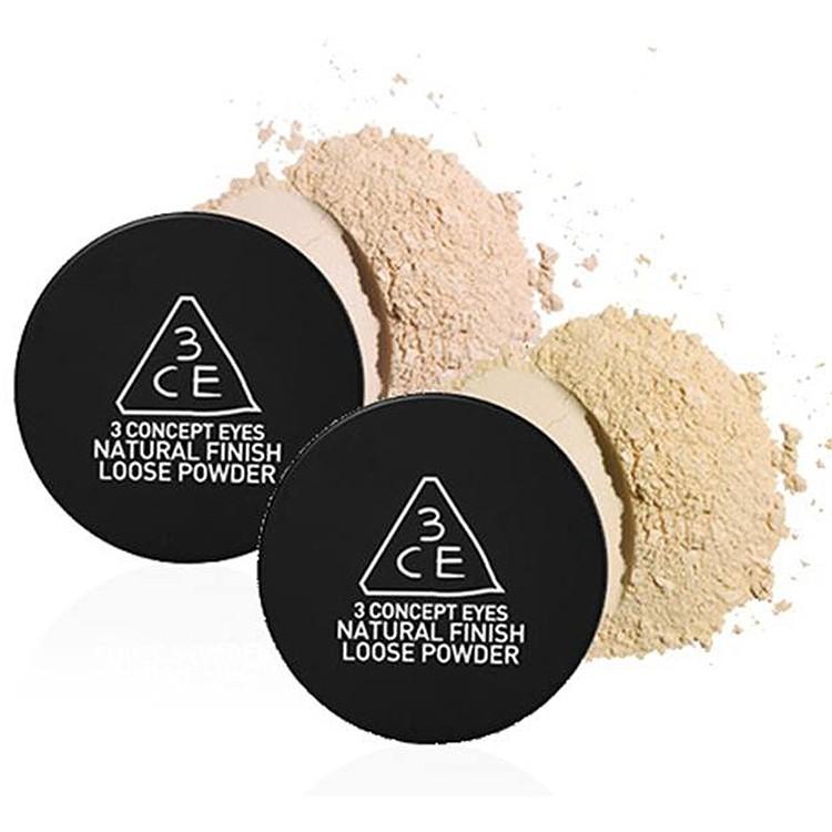 Phấn Bột 3CE Natural Finish Loose Powder Cho Lớp Phủ Mịn Màng CMV489