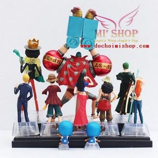 Mô Hình Team Luffy Mũ Rơm,Mô Hình One Piece 9 nhân vật
