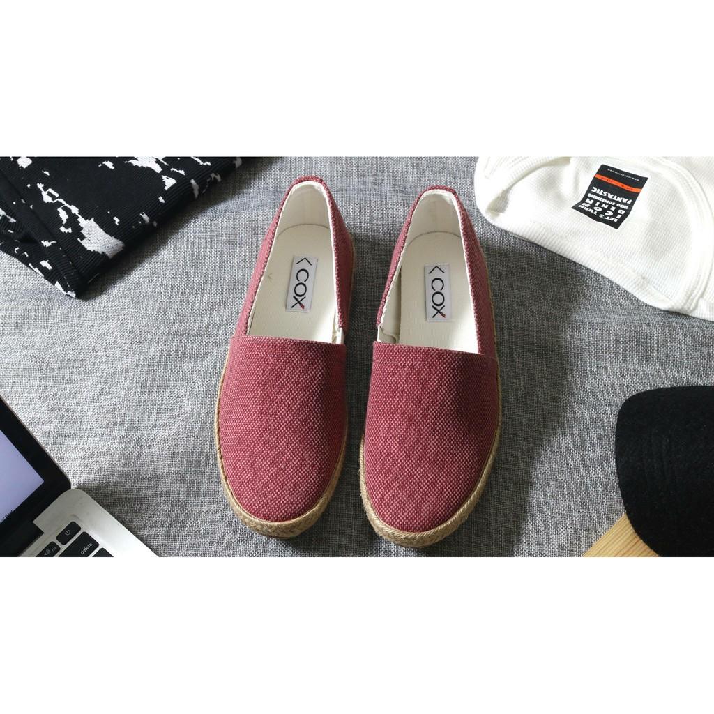Giày Lười Nam Nữ Cox Shoes Burgundy 3160