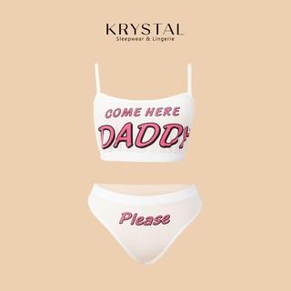 Bộ đồ lót Come here Daddy chất thun co dãn thoải mái KRYSTAL NK01 thumbnail