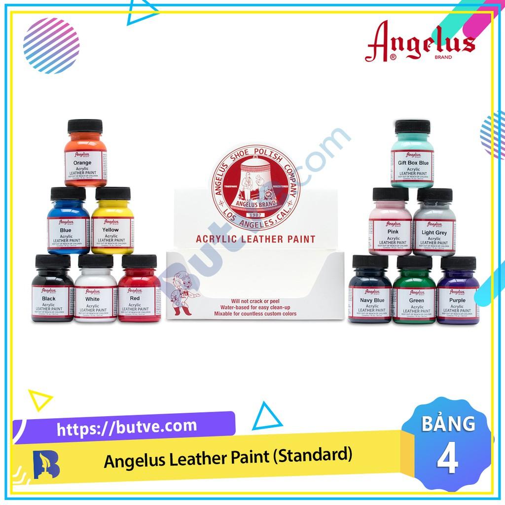 Bảng màu 4 - Màu acrylic vẽ lên da, vải Angelus Leather Paint (Standard) – 29.5ml (1Oz)