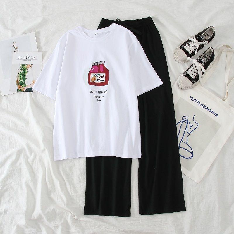 Mặc gì đẹp: Dáng chuẩn với Hàng Loại 1:Sét Bộ Đồ Nữ Mặc Đi Chơi, Dự Tiệc Mùa Hè, Áo Phông Nữ Cotton Mát Mịn In Hoa Cúc Mix Quần Thun Cát Phong Cách