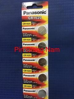 Pin CR1620 Panasonic 3V Lithium vỉ 5 viên