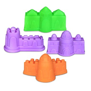 SUN11❤ 4Pcs Plastic Castle Building Model Mold Beach Fun Toys For Kids Chil