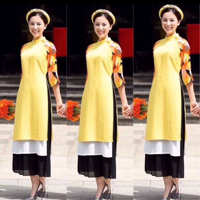 Sét áo dài vàng 2 tà + chân váy kèm mấn và ảnh thật - 3200399 , 862067251 , 322_862067251 , 290000 , Set-ao-dai-vang-2-ta-chan-vay-kem-man-va-anh-that-322_862067251 , shopee.vn , Sét áo dài vàng 2 tà + chân váy kèm mấn và ảnh thật