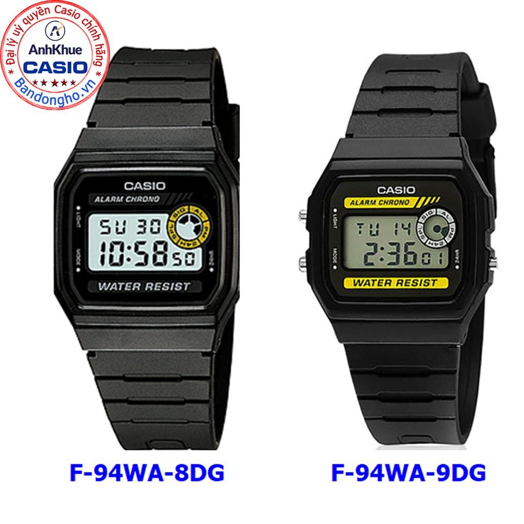 Đồng hồ nam Casio F-94 ❤️ 𝐅𝐑𝐄𝐄𝐒𝐇𝐈𝐏 ❤️ F-94WA-8DG F-94WA-9DG đồng hồ nam chống nước huyền thoại Anh Khuê