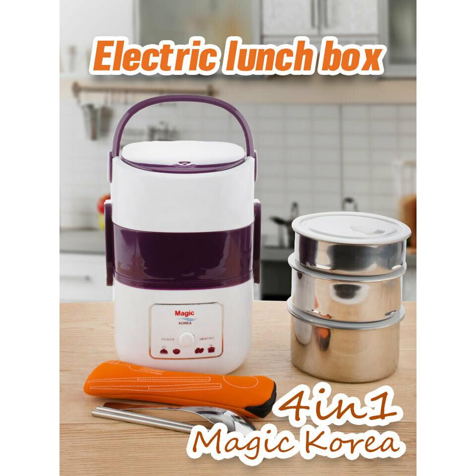 [Chính hãng] Hộp cơm điện 3 tầng Magic Korea A-06