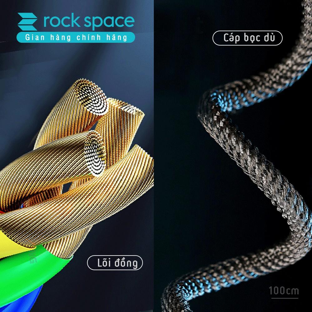 Cáp sạc 4 in 1 iphone, samsung và các dòng điện thoại Rockspace R12 chuẩn lightning TypeC, sạc nhanh PD QC màu đen
