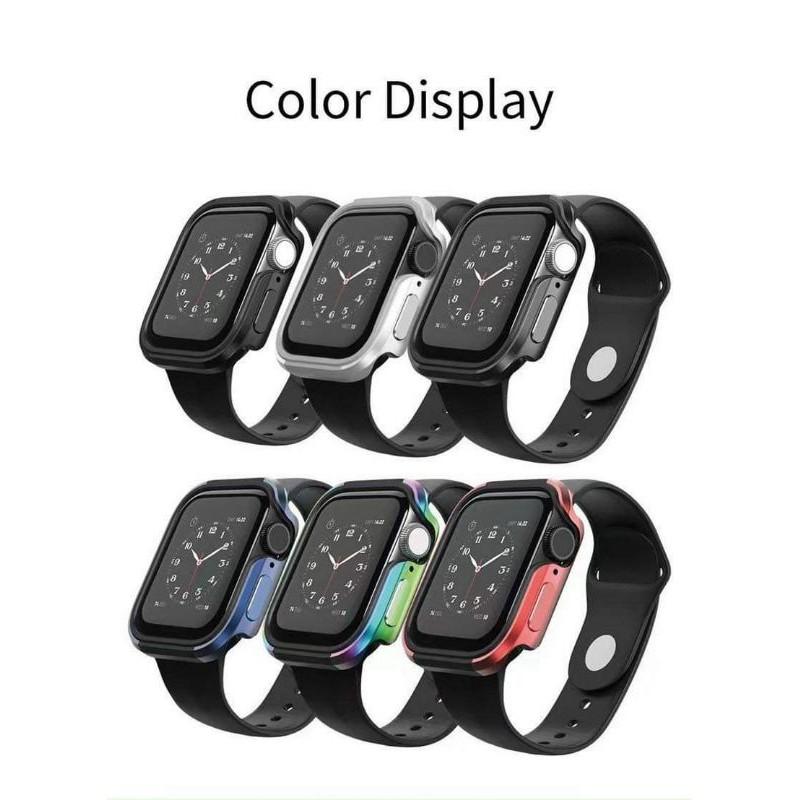 Wiwu Defense Armor Case cho Apple Watch Series 6 / Series 5 / Series 4 / SE ,  ốp chống sốc viền thép cao cấp