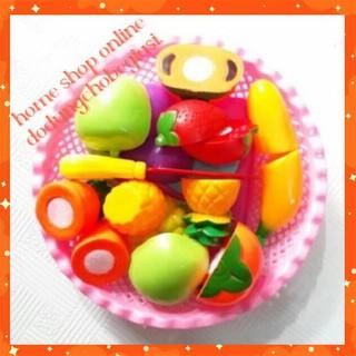 Đồ chơi cắt hoa quả trái cây kèm rổ đựng cho bé