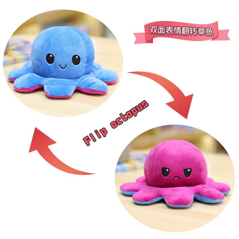 Bạch tuộc cảm xúc 2 mặt dễ thương - Kích cỡ 20~40cm - Nhiều màu sắc đa dạng - Bạch tuộc nhồi bông cao cấp