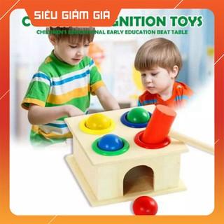 – Bộ đồ chơi đập bóng búa bằng gỗ cho bé – đồ chơi giáo dục an toàn