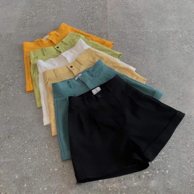[Mã WASTUP5 giảm 10% tối đa 20K đơn 99K] quần short nữ lưng cao lật gấu vải mềm mại