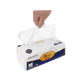 Combo 8 gói khăn giấy lụa Bless You Famille cao cấp 200 tờ, mềm mịn dai tiện dụng