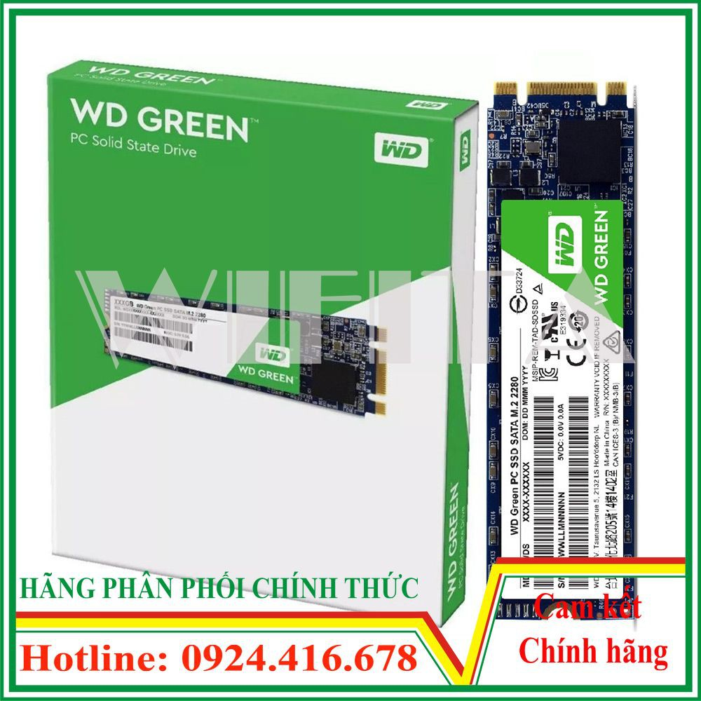[Nhập ELCLMAY hoàn 30K xu đơn từ 200K]Ổ cứng SSD 240GB WD Green M2 Chính Hãng Minh Thông Giá chỉ 715.000₫