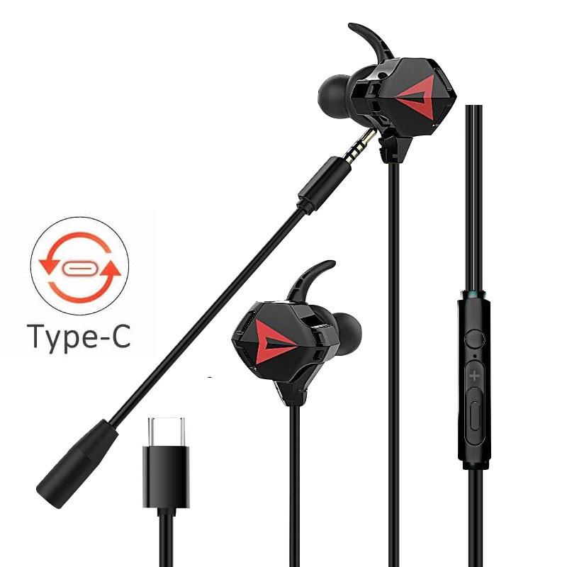 Tai nghe Gaming G-901 chuẩn Type-C/3.5 mm có Mic âm thanh chuẩn Stereo chuyên Game Mobile, PC PUBG/ROS/FreeFire