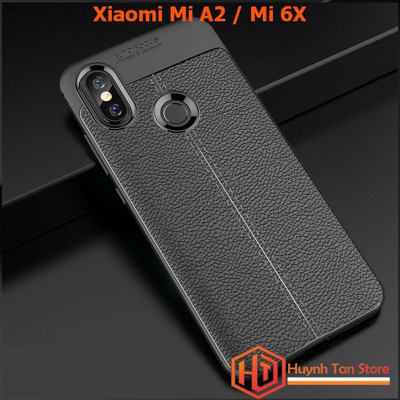 ỐP lưng Xiaomi Mi A2 / MI 6X dẻo tpu vân da mỏng ôm máy (full màu)