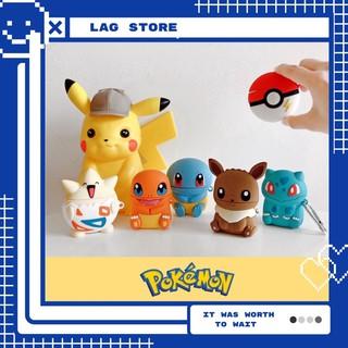 Case Vỏ Bao Đựng Tai Nghe Airpod 1&2/Pro Hình Pokemon – Vỏ Airpod Chất Liệu Bằng Silicon Dẻo – LAG Store