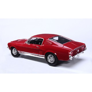 Mô Hình Xe Hơi Maisto 1:18 1967 Ford Mustang GTA Fastback Diecast Model Racing Car Toy Red