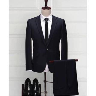 [Nhập mã MANEW07 giảm 15% – tối đa 30K]Bộ vest màu đen cao cấp