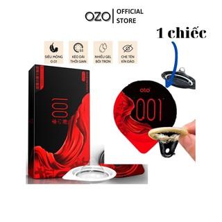 Ưu đãi trải nghiệm 1 chiếc bao cao su OZO 0.01 Felling untrathin màu đen_ olo store thumbnail
