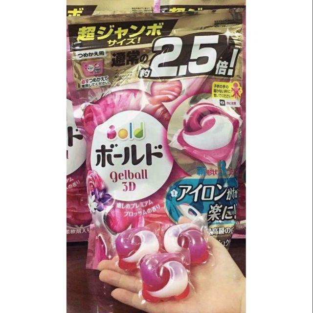 Viên giặt xả Gelball _ Ariel 3D túi 52 viên