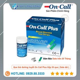 Hộp 50 Que thử đường huyết Acon On-Call Plus ( Đảm bảo date trên 20 tháng ) thumbnail