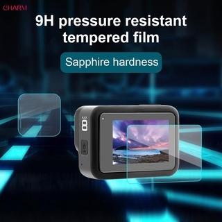 CHARM ● 9H Camera Tempered Glass Camera Screen Protector Durable Hard GOPRO Toughened Membrane HD Film