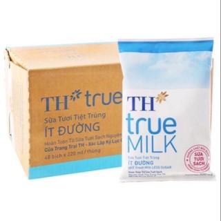 thùng sữa bịch TH có đường / không đường