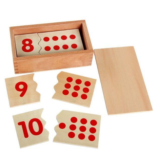 Giáo cụ Montessori – Số và thẻ dot 1-10
