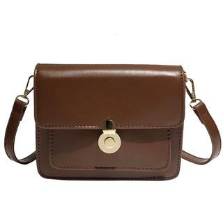 Túi đeo chéo nữ thời trang T62 19x15x8cm (Đen-Nâu-Da bò)