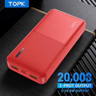Hình ảnh TOPK I2009 20000mAh Powerbank Portable Dual Ports USB Charger External Battery for Xiaomi Samsung iPhone-8