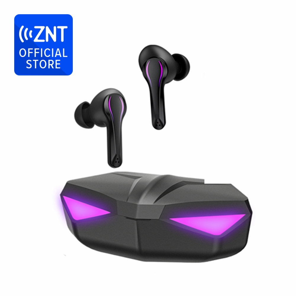 ZNT Wireless Bluetooth Game Headset Dual Mode Built-in Mic Waterproof IPX5 No Delay