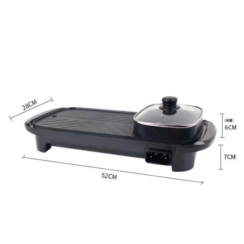 [BẢO HÀNH 6 THÁNG] Bếp Nướng Lẩu 2 Ngăn ⚡ ĐA NĂNG ⚡ Nồi lẩu nướng điện 2 trong 1 tiết kiệm điện năng