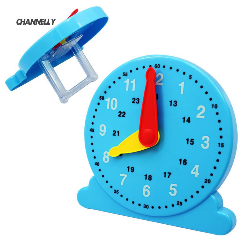 ■Cy Nursery Kids Children Cognition Plastic Clock Educational Early Learning Toy
