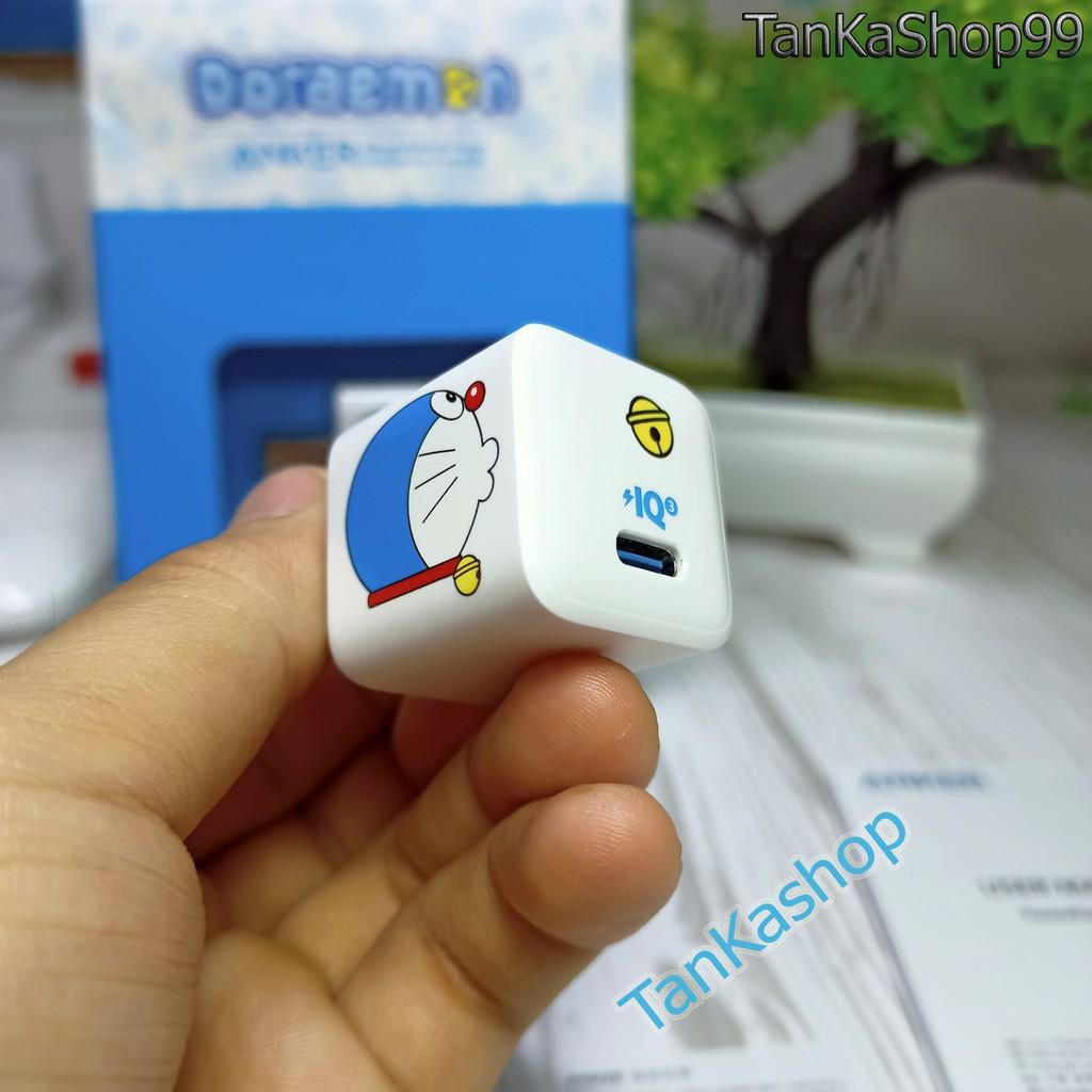 Củ Sạc ANKER x Doraemon PowerPort III Nano 20W - A2633 Sạc Nhanh lphone 12 Series PD + QC 3.0