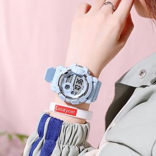 [ Women Fashion Candy Colour Digital  Wristwatches  ] [ Ladies  LED Luminous Electronic Watches ] [ Popular Silicone Belt Casual Watches ]